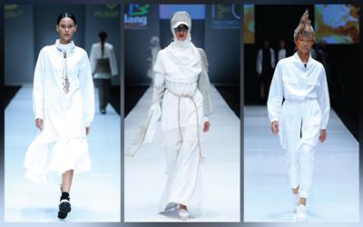6 Gaya Serba Putih yang Chic dari Jakarta Fashion Week 2018