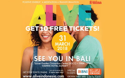 Raih Hidup yang Positif dan Mindful di ALIVE 2018 Bali!