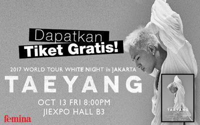 Selamat Kepada 5 Pemenang Tiket Konser Taeyang 2017 World Tour Night in Jakarta!