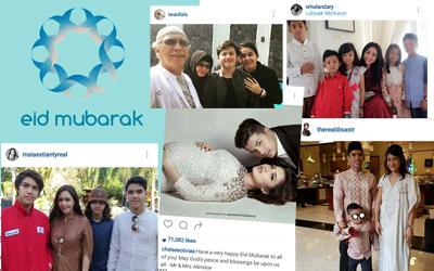 Meriahnya Perayaan Lebaran 31 Selebritas Bersama Keluarga
