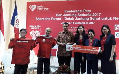 Peringatan Hari Jantung Sedunia Berpusat di Jakarta, Medan, dan Surabaya