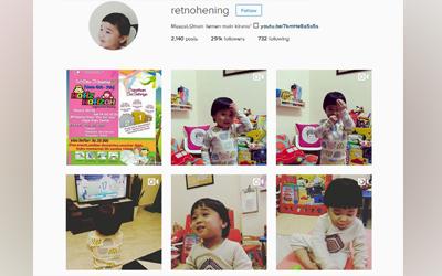 Retno Hening, Populer di Instagram Karena Rajin Posting Video Kegiatan Sang Anak