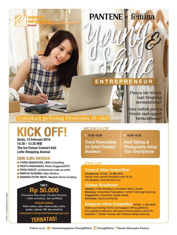 Pantene Femina Young & Shine Entrepreneur Seminar