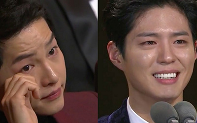 Park Bo-gum Membuat Song Joong-ki Meneteskan Air Mata di 2016 KBS Drama Awards