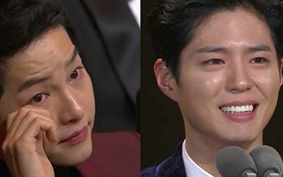 Park Bo-gum Membuat Song Joong-ki Meneteskan Air Mata di 2016 KBS Drama Awards