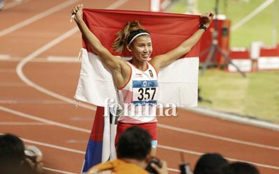 Pertama Kali Ikut Asian Games, Emilia Nova Raih Perak dari Lari Gawang 100 Meter