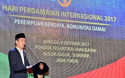 Hari Perdamaian Internasional 2017: Presiden Jokowi Ajak Perempuan Jadi Agen Perdamaian
