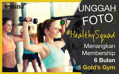Ikutan Kuis #HealthySquad untuk Mendapatkan 6 Bulan Membership di Gold's Gym