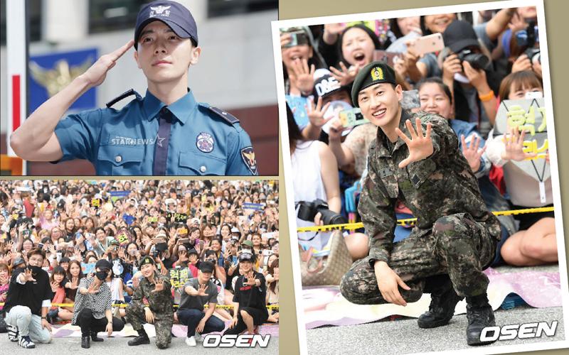 Selesai Wajib Militer, Super Junior Donghae dan Eunhyuk Langsung Disambut Ratusan Fans