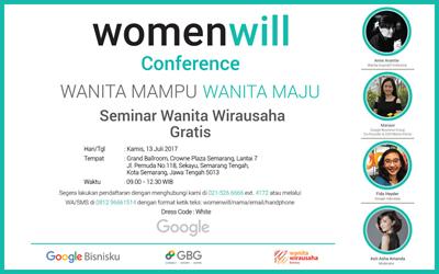Ikuti Seminar Wirausaha Bersama Femina dan Google WomenWill di Semarang