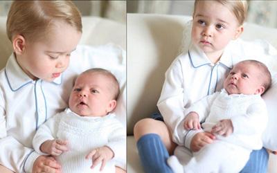 Mengintip Foto-foto Lucu Prince George dan Princess Charlotte