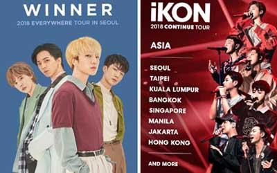 Bersiaplah, iKON dan WINNER Akan Konser di Jakarta!