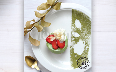 Resep Matcha & Cheese Mousse