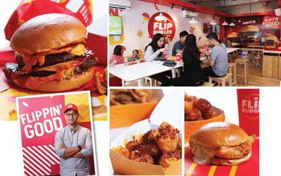 Duet Nikmat Patty & Bun di Flip Burger
