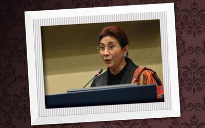 Menteri Susi Pudjiastuti Menerima Leaders of a Living Planet Award