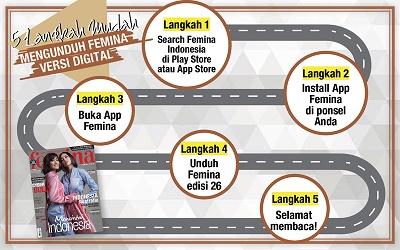 5 Langkah Mudah Mengunduh E-Magz Femina Edisi 26/2017
