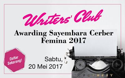 Writers' Club: Awarding Sayembara Cerber Femina 2017