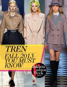 Tren Fall 2013 dari 4 Pusat Mode Dunia