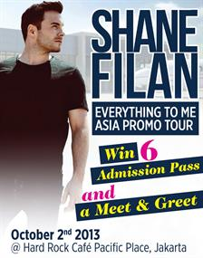 Win 6 Admission Pass and a Meet & Greet with Shane Filan Asia Promo Tour